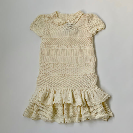 Ralph Lauren Cream Crochet Dress: 6 Years (Brand New)