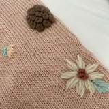 Shirley Bredal Merino Wool Pale Pink Floral Jumper: 2 & 8 Years