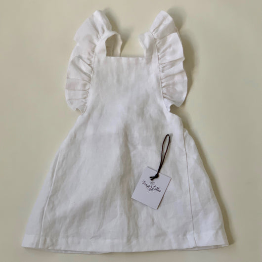 Freya Lillie White Linen Dress: 2/3 Years (Brand New)