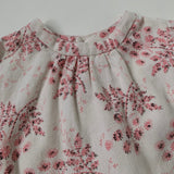 Bonpoint Cream And Pink Winter Floral Dress