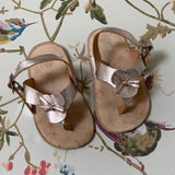 Bonpoint Silver Baby Sandals: Size 19