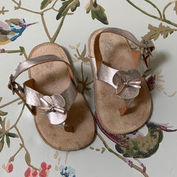 Bonpoint Silver Baby Sandals