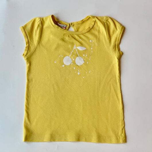 Bonpoint Yellow Signature Cherry Print T-Shirt: 18 Months