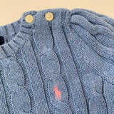 Ralph Lauren Powder Blue Cotton Cable Knit Jumper: 2 Years
