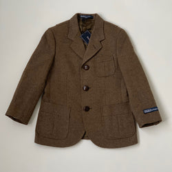 Ralph Lauren Brown Tweed Riding Style Jacket: 6 Years (Brand New)