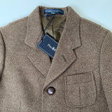Ralph Lauren Brown Tweed Riding Style Jacket