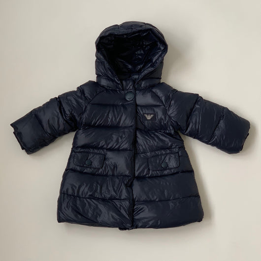 Armani Navy Puffer Coat: 9 Months
