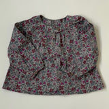 Bonpoint Purple Toned Liberty Print Blouse