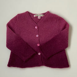 Bonpoint purple ombre mohair mix cardigan: 18 Months