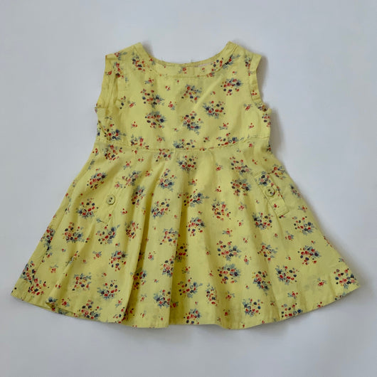 Bonpoint Yellow Floral Cotton Dress: 3 Years