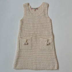 Bonpoint Cream Crochet Dress: 3 Years