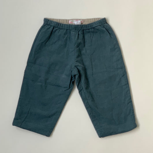 Bonpoint Teal Cord Trousers: 18 Months
