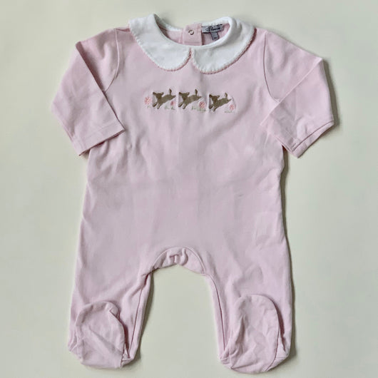Lapinou Pink Bunny Print All-In-One: 3 Months