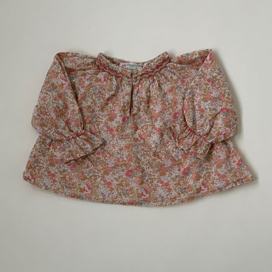 Bonpoint Liberty Print Smocked Blouse: 12 Months