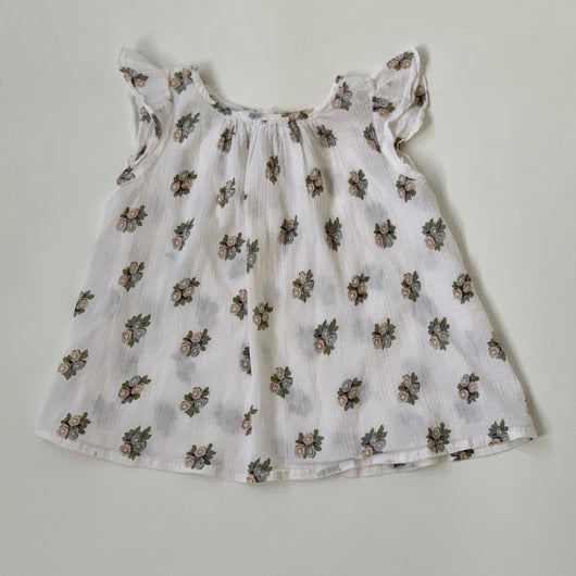 Bonpoint Floral Gauzy Cotton Summer Top: 4 Years