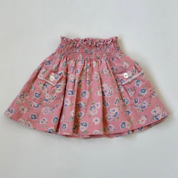 Ralph Lauren Pink Floral Linen Skirt: 3 Years