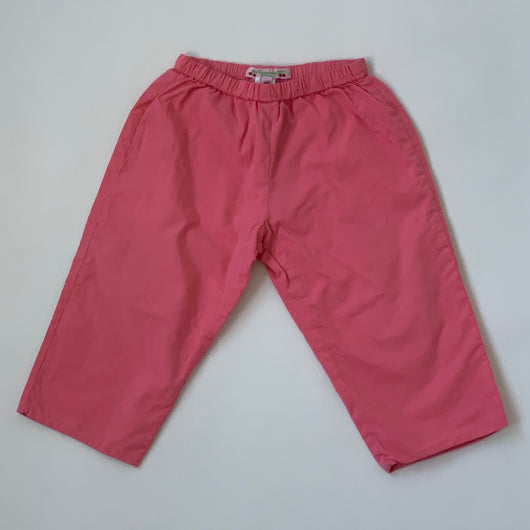 Bonpoint Pink Cotton Trousers: 18 Months
