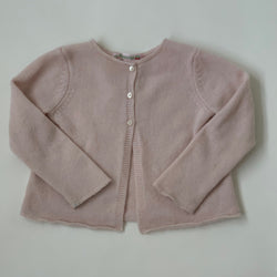 Bonpoint Pale Pink Cashmere Cardigan: 2 Years