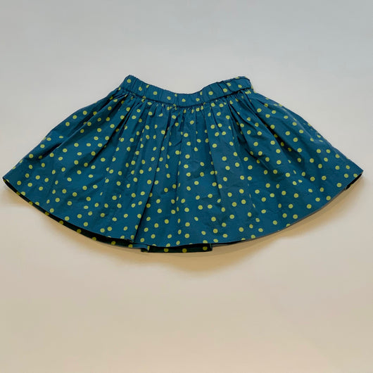 Bonpoint Blue And Lime Green Polka Dot Skirt: 3 Years (Brand New)