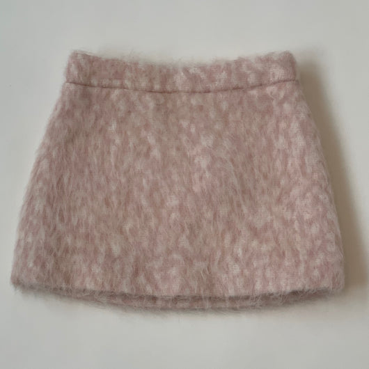 Bonpoint Pink And White Mohair Skirt: 3 Years