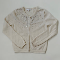 Harrods Cream Cashmere Cardigan With Jewel Trim: 8 Years