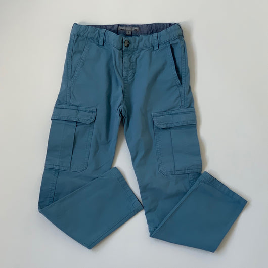 Bonpoint Teal Cotton Cargo Style Pants: 6 Years