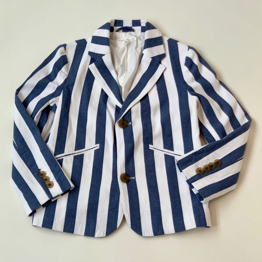 Marie-Chantal Navy And White Stripe Cotton Blazer: 8 Years