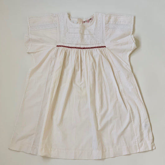 Bonpoint White Dress With Red Embroidery: 10 Years