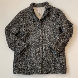 Bonpoint Black Tweed Wool Mix Coat: 8 Years