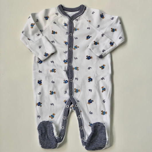 Ralph Lauren Bear Print All-In-One: 3 Months
