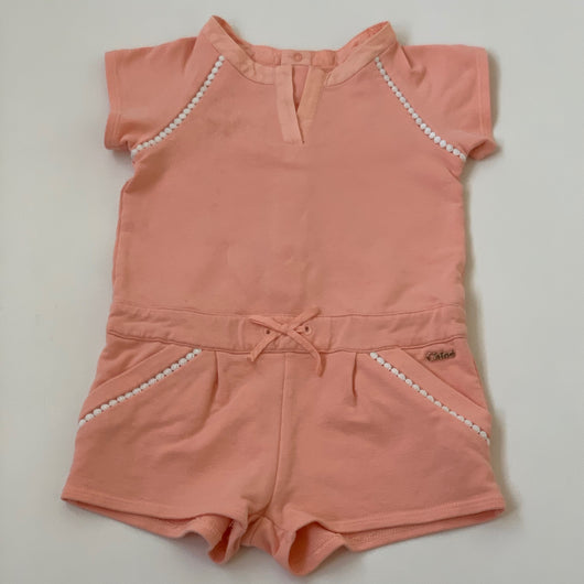 Chloé Apricot Jersey Jumpsuit: 2 Years