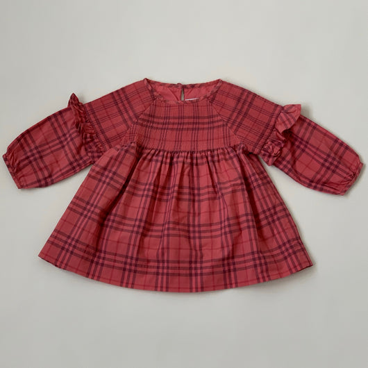 Burberry Raspberry Dress With Smocking: 6 Months