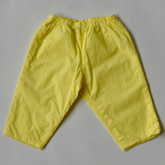 Bonpoint Yellow Cotton Trousers: 12 Months