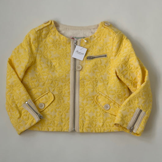 Bonpoint Yellow Jacquard Jacket With Zip Detail: 4 Years (Brand New)