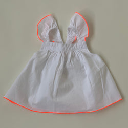 Jacadi White Frill Blouse With Neon Trim: 12 Months