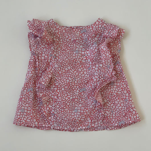 Jacadi Liberty Print Sleeveless Blouse: 12 Months