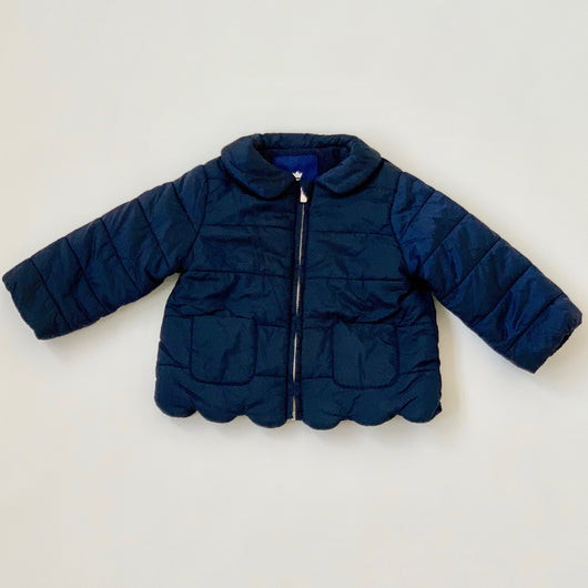 Jacadi Navy Jacket With Scallop Detail: 18 Months