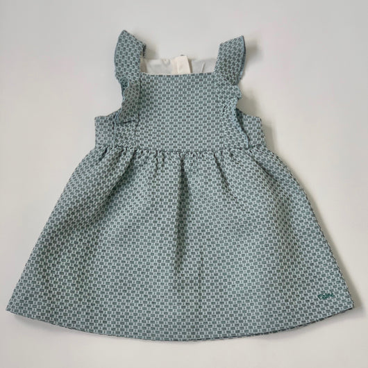Chloé Teal Jacquard Dress (Brand New): 18 Months