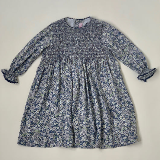 La Coqueta Blue Floral Dress With Smocking: 5 Years