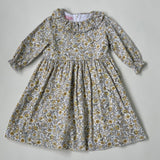 La Coqueta Yellow Toned Floral Dress With Frill Collar: 4 Years