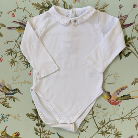 Marie-Chantal Bodysuit With Collar : 18 Months