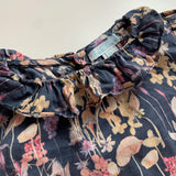 Marie-Chantal Navy Floral Blouse With Collar: 18 Months