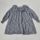 Amaia Blue Floral Dress With Pom Poms: 3 Years