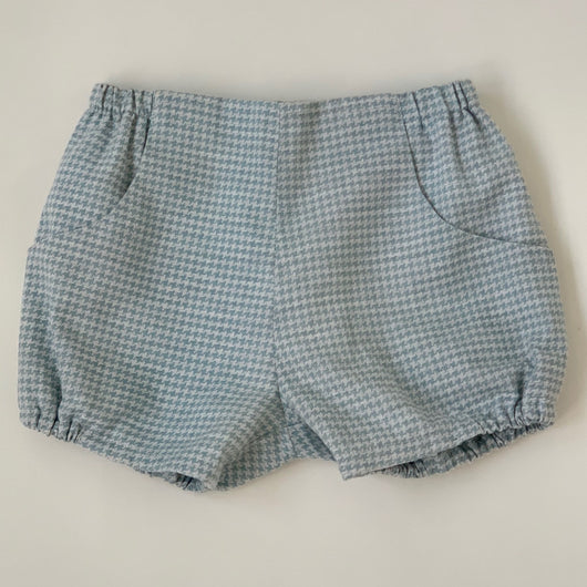 Amaia Blue Houndstooth Shorts: 3 Years
