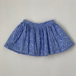 Jacadi Blue And White Floral Cotton Skirt: 3 Years