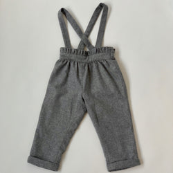 Jacadi Grey Wool Mix Trousers With Straps: 3 Years