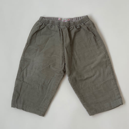 Bonpoint Grey Cord Trousers: 18 Months