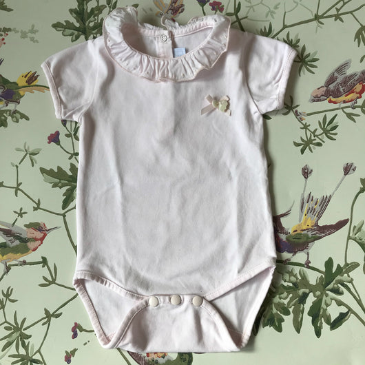 Tartine et Chocolat Pink Bodysuit With Frilled Collar
