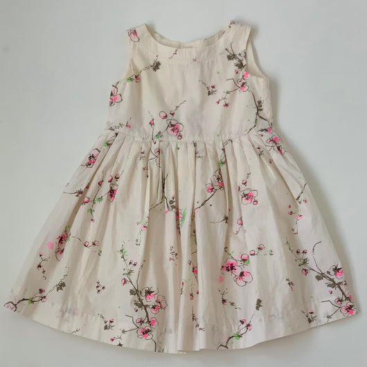 Bonpoint Cotton Floral Print Dress With Neon: 4 Years