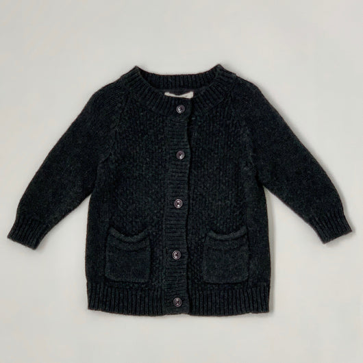Caramel Dark Grey Wool Mix Cardigan/ Coat: 3 Years